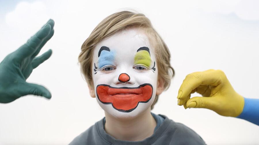 Schminken: Clown