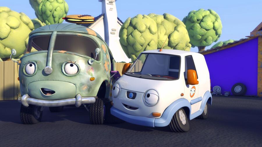 Olly, het kleine witte busje