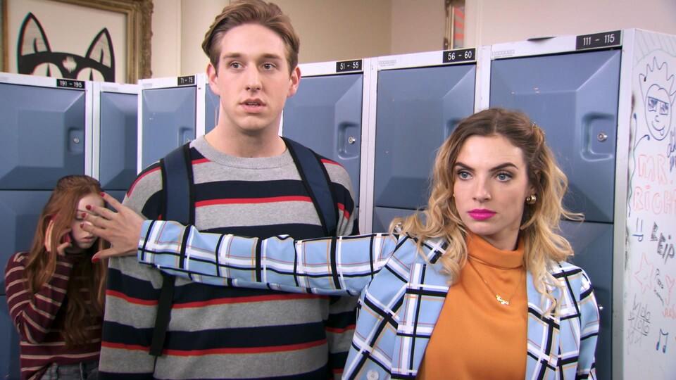 Screenshot van aflevering: Mo is er gloeiend bij