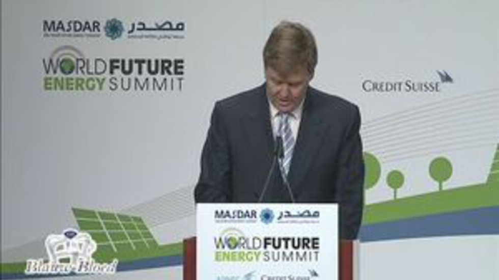 Prins Willem-Alexander speecht op de Summit in Abu Dabi