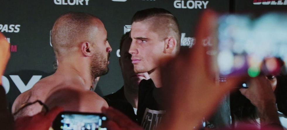 Glory Collision: Rico vs. Badr weigh-in, staredown & fight