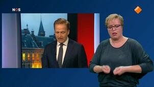 NOS Gesprek minister-president met gebarentolk